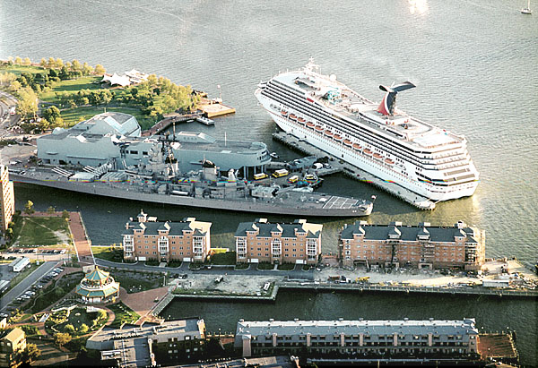 002 USS Wisconsin and Carnival Victory