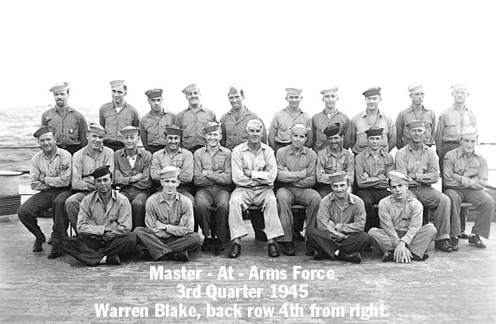 171 W. Blake Master at Arms Force  F
