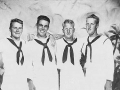 141 Estel C. Price & Buddies USS Wisconsin Hawaii 1945