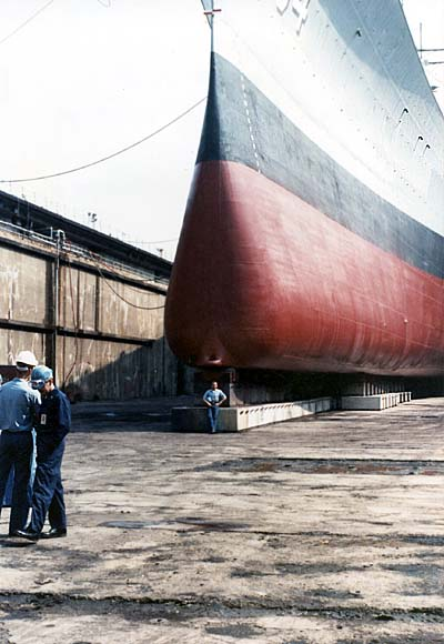 402 Stansbery,M. F. Justiniano front of ship 1989