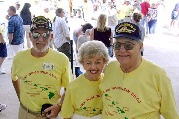 178 Roger Gaumont, Dick and Claire Hamann on the Arizona Memorial