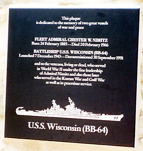 003 WALL OF HONOR TEXAS BB-64 PLAQUE