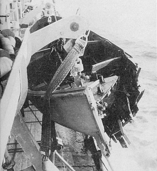 008 Damage to motor whaleboat.
