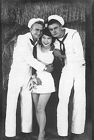 105 Waikiki Oct. 1944 Geo.Booz on left