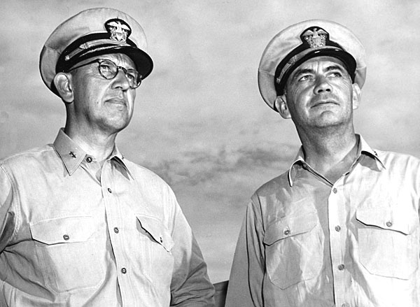 106 RADM Denfeld and Capt. Roper 1945