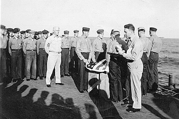 110 H.A.Sirigos Burial at sea 1945