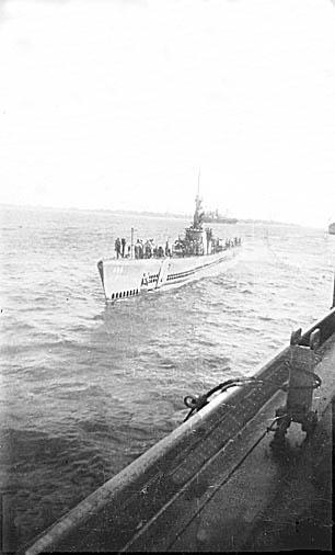 183 J. Blake Submarine alongside for refueling