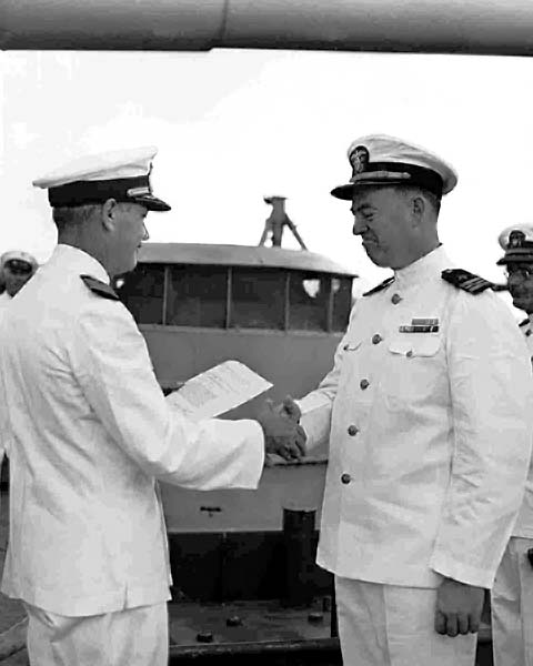 487 001f  To the right LCDR R.E.Williams