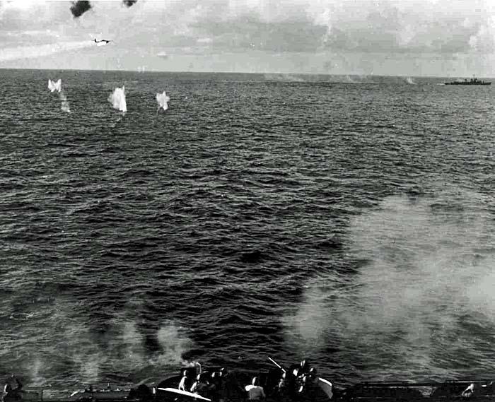490 Enemy plane hit.
