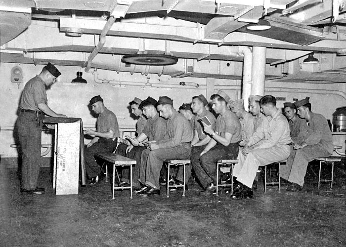 538 Maurice holds Religious services for Jewish crew members