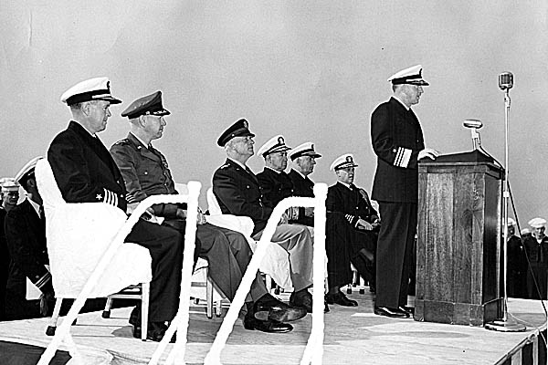 159 VADM Clark is relieved by VADM Pride-Japan 1953
