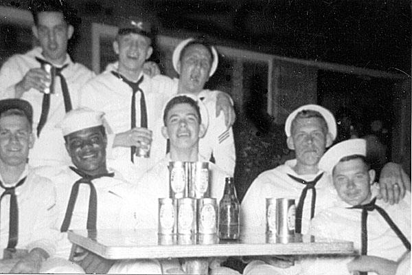 177 Cuba 1956 Bk Row  Osborne middle John Cross right