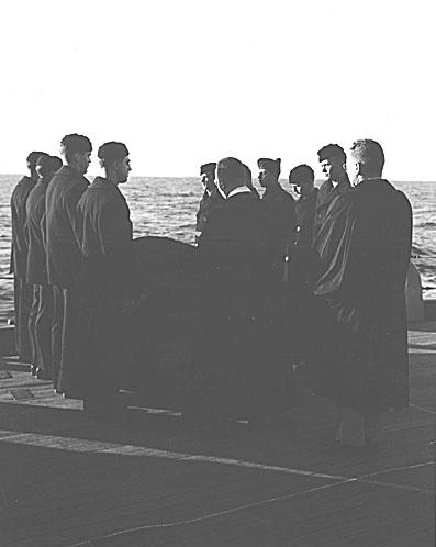 183 Burial at sea of N Korean prisoner