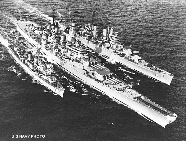 186 Wisconsin Destroyer Buck and Cruiser ST.Paul Korea 1951