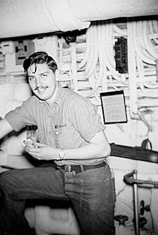 237 Bill Henson No.4 Engine room 1952