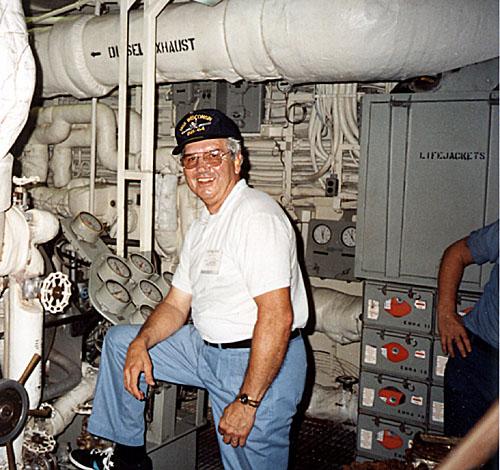 238 Bill Henson No.4 Engine room 1991