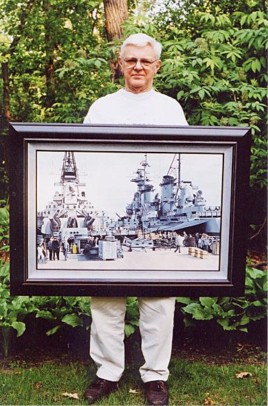 374 C.Vang Holding Framed Painting