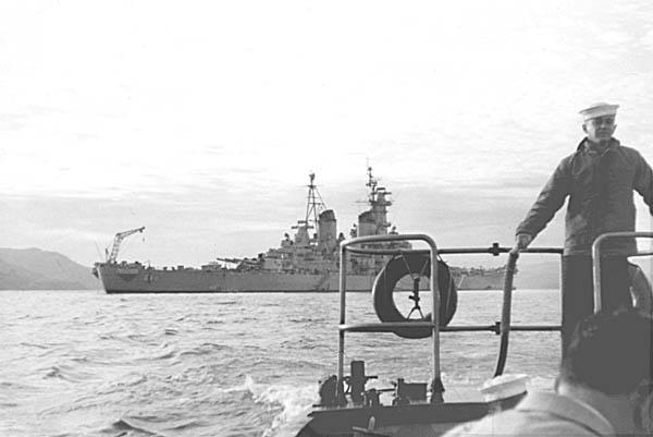 453 D.Patrykus  Heading ashore Sasebo 1954