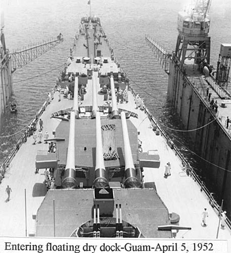 529 D. Wilson 04-05-52 Entering floating dry dock Guam a