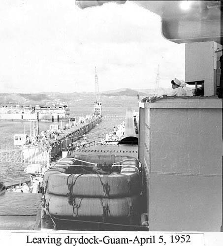 533 D. Wilson 04-05-52  Leaving dry dock Guam c