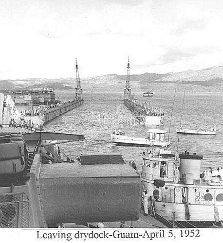 534 D. Wilson 04-05-52  Leaving dry dock Guam d