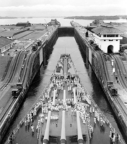 601 Panama Canal Middie Cruise 1957