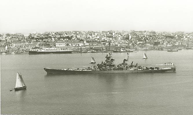 883 Kiefer, R Ship in Lisbon 1951