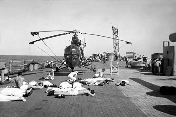 927 Noon break off Iwo Jima 1954