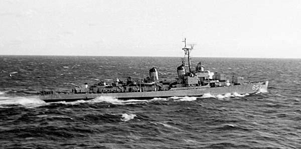 953  Brownlee, J. USS Bristol DD-857
