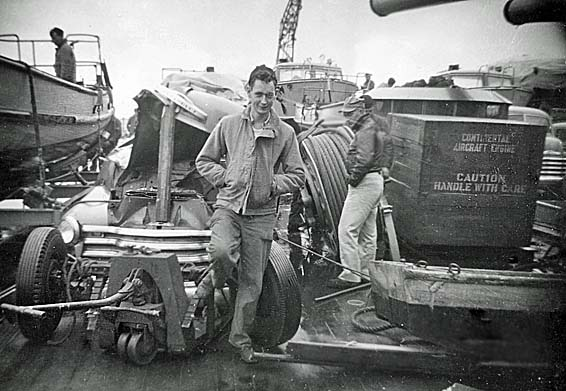 1028 R.W. Mc Feeters Fantail Damage 1952