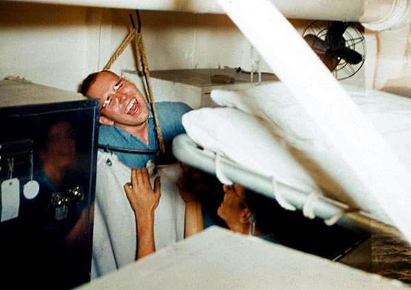 1132 John Eles in the laundry bag