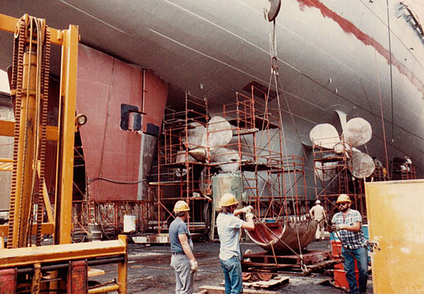 091 B.Wilcox Dry dock