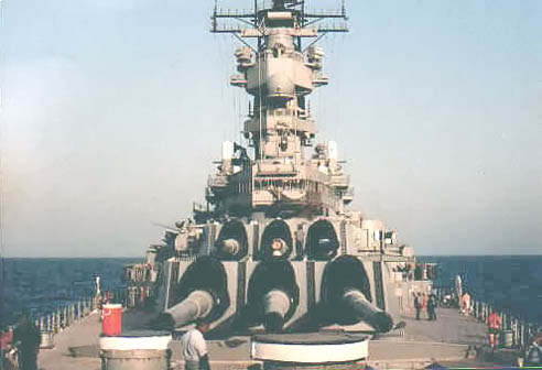 127 B.Johnson On Deck in Persian Gulf