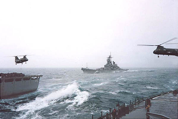 174 H. Santiago USS  Missouri BB-63 approaching
