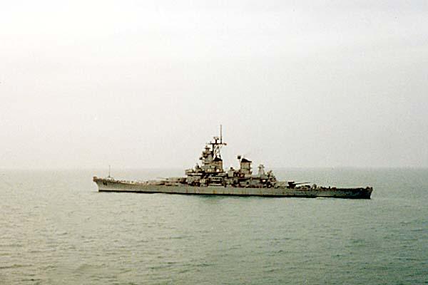 379 USS Missouri (BB-63) off the coast of Kuwait