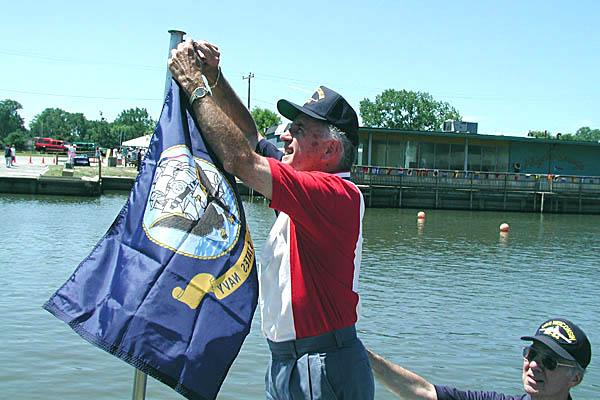 71 Raising the Navy Flag