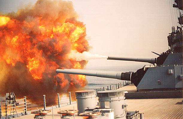 041 T.Brownrigg 16in. Gun Fire 1991
