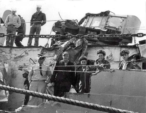 C 32 USS Eaton DDE-510 Collision