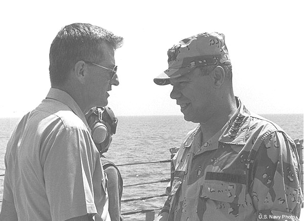 049 .Blesch 1990 CAPT. J.Blesch and GEN. C. Powell