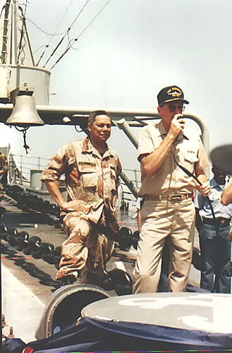 050 B.A.Johnson 1990 GEN. C.Powell and CAPT.J. Blesch