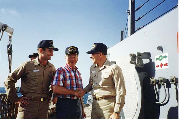058 Capt. Bill, Secretary of the Navy, H. Lawrence Garett and Bob Eisenberg