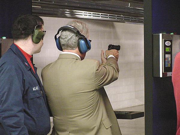 031 03-07-01   Carl on the gun range.