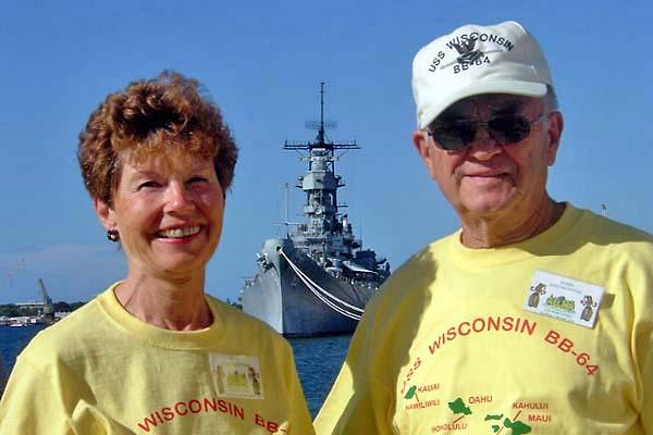 160 John & Ruth Protivnak and the USS Missouri   20051004