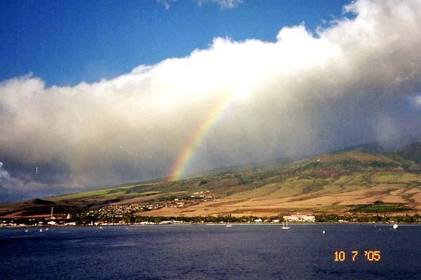 166 Rainbow over Maui.