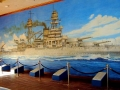 151Nice-painting-of-the-USS-Arizona-BB-39-at-the-Arizona-Memorial.