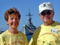 160 John & Ruth Protivnak and the USS Missouri   20051004